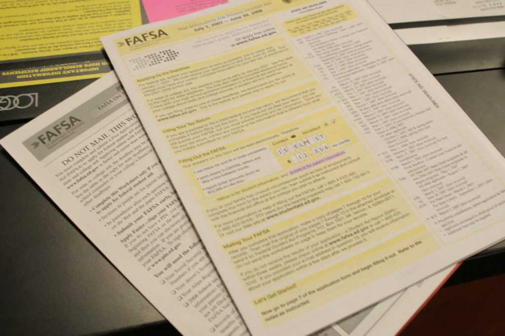 FAFSA Form by Bent Tree News on Flickr