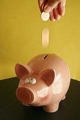 Piggy savings bank by alancleaver on Flickr