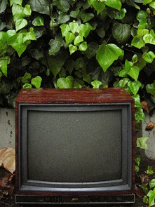 television in the rain by striatic on Flickr