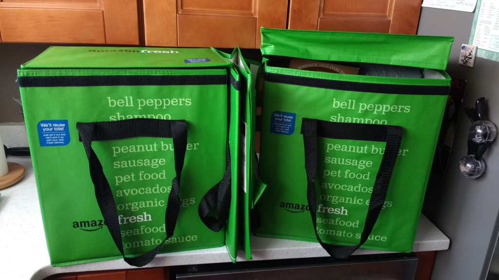 Amazon Fresh Grocery Delivery Totes