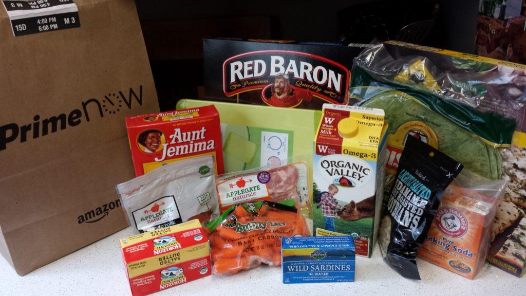 Amazon Prime Now Grocery Haul | PoorerThanYou.com