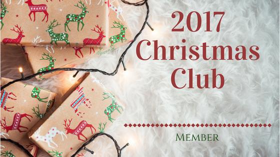 2017 Christmas Club Membership Card