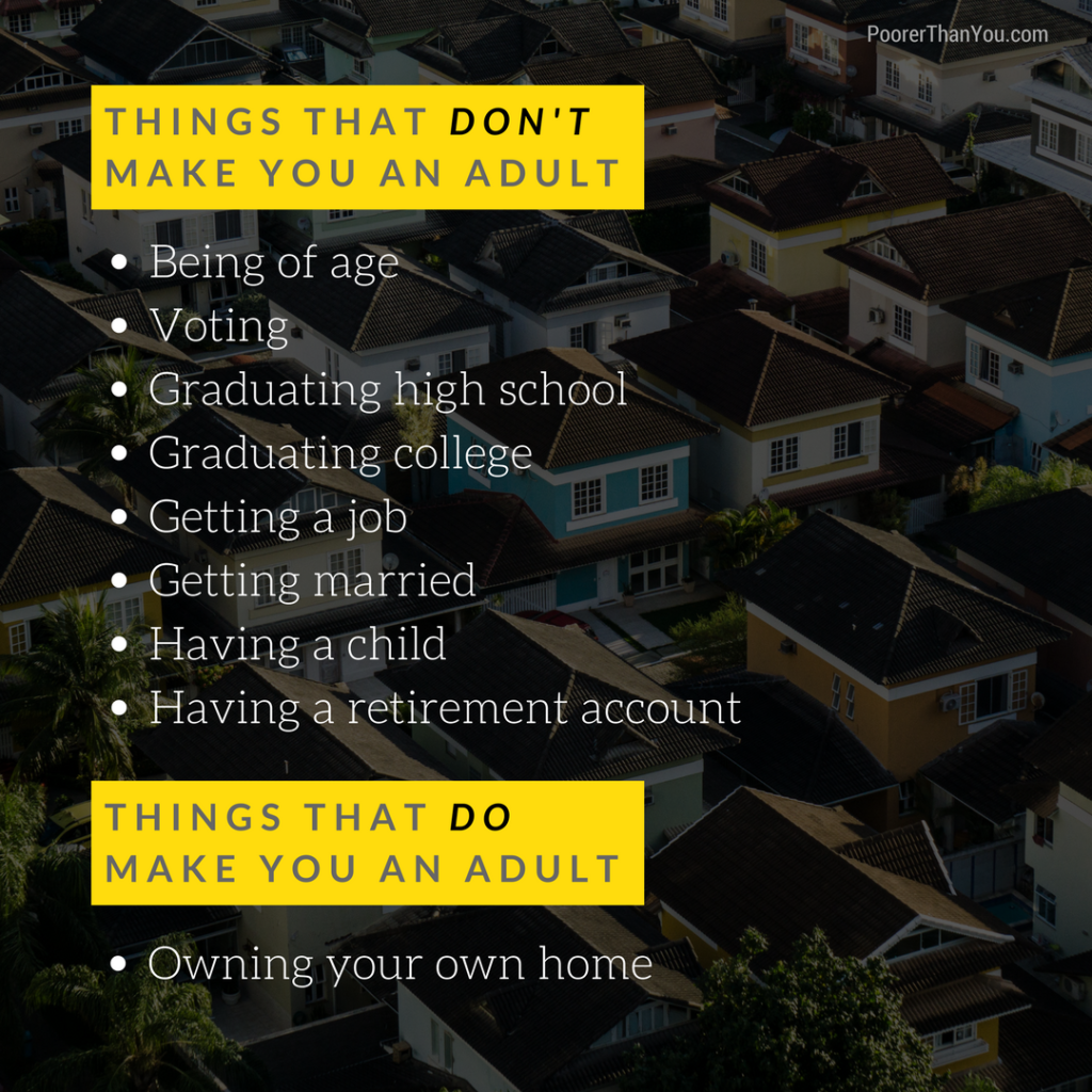 Things that do and do not make you an adult
