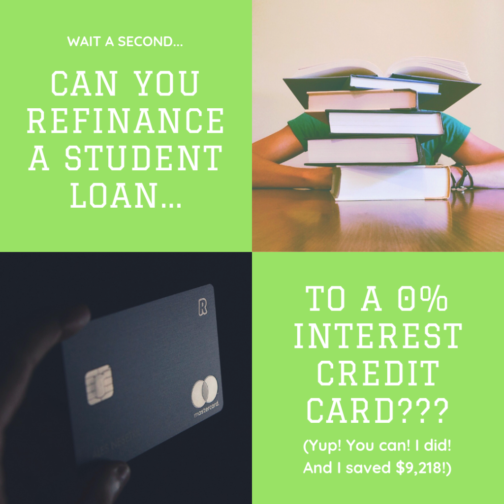 How to refinance student loans to a credit card and save thousands in interest